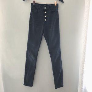 Zara button fly high waisted skinny jeans size 2